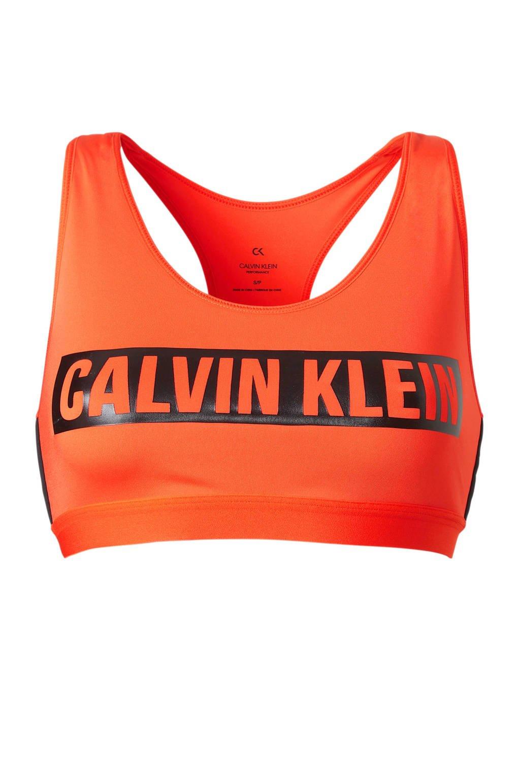 Calvin Klein Performance sportbh, Oranje/zwart
