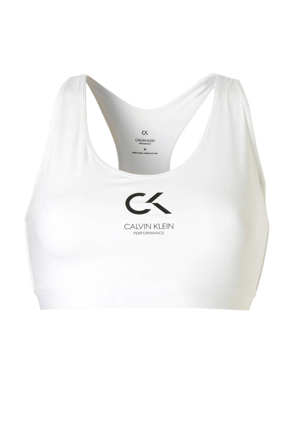 Calvin Klein Performance sportbh wit, Wit