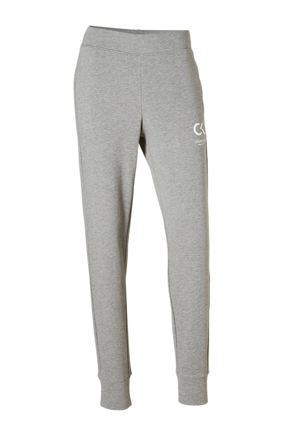Calvin Klein Performance joggingbroek, Grijs melange/wit