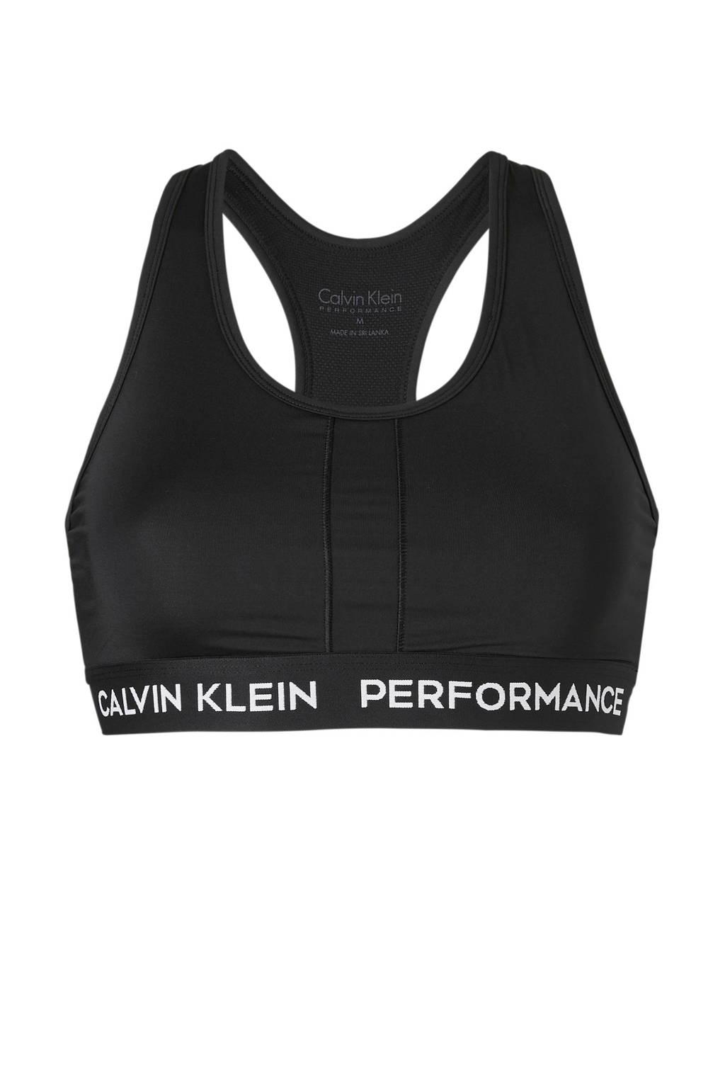 Calvin Klein Performance Level 1 sportbh zwart, Zwart