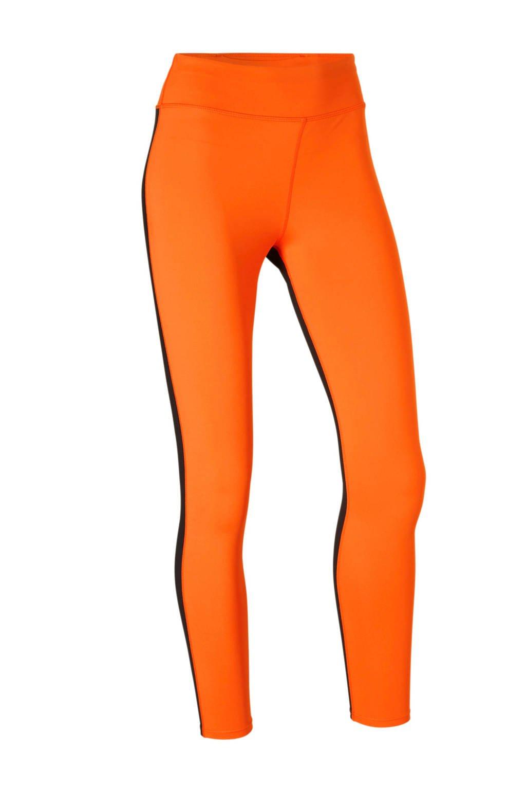 Calvin Klein Performance legging oranje, Oranje/zwart