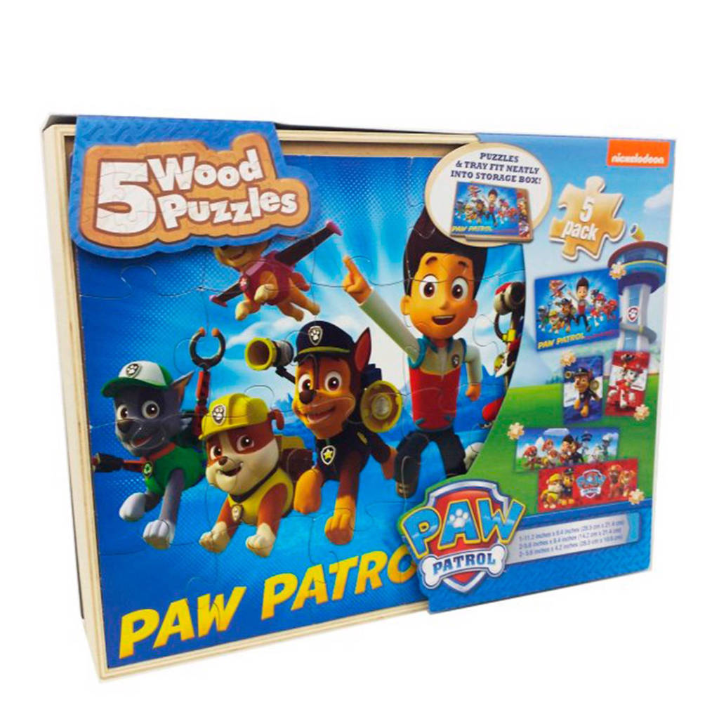 Paw Patrol box houten legpuzzel 80 stukjes
