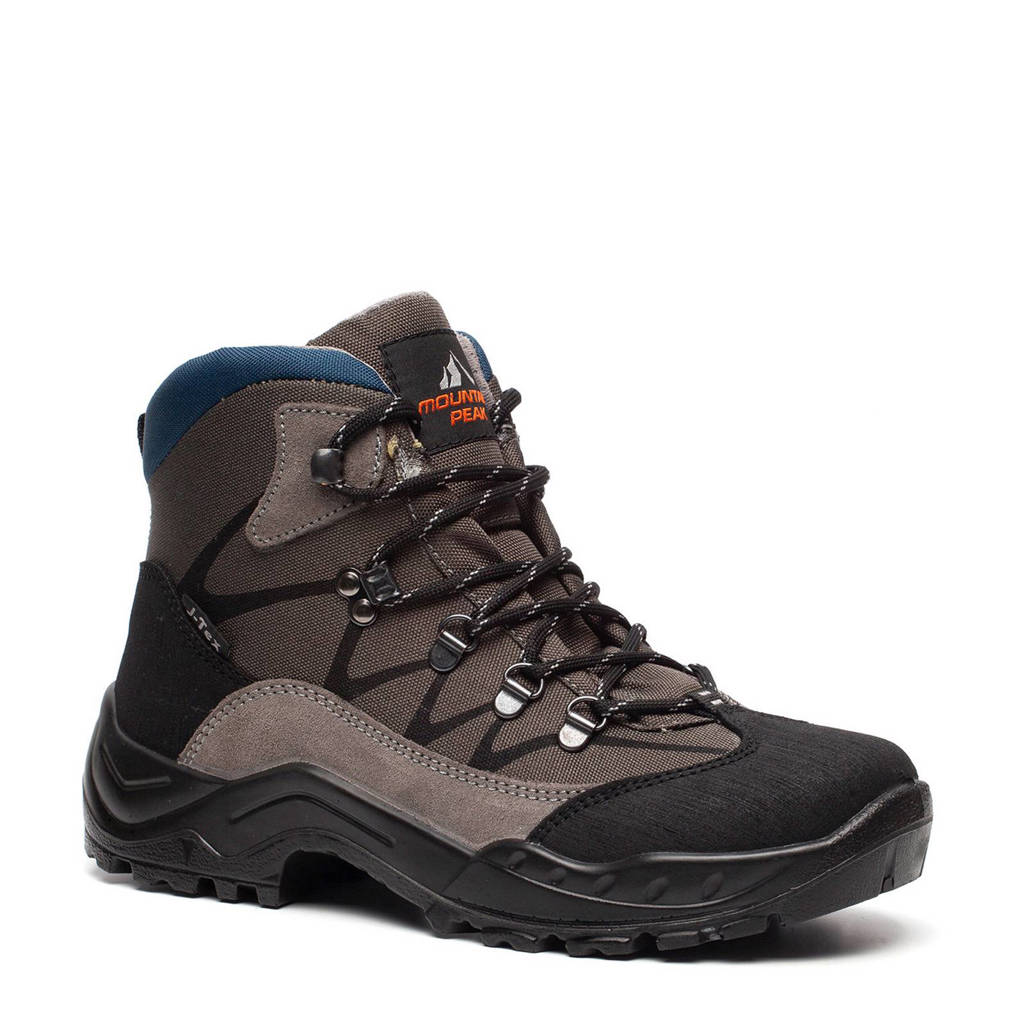 d0c1a9677f8 Scapino Mountain Peak leren wandelschoenen grijs | wehkamp