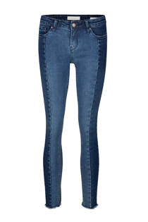 WE Fashion cropped skinny fit jeans met contrast detail  (dames)