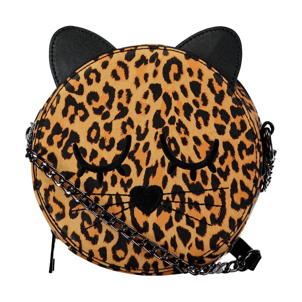 CoolCat tas met luipaardprint, Bruin/zwart