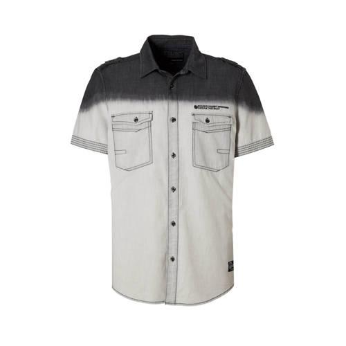 overhemd antraciet-lichtgrijs