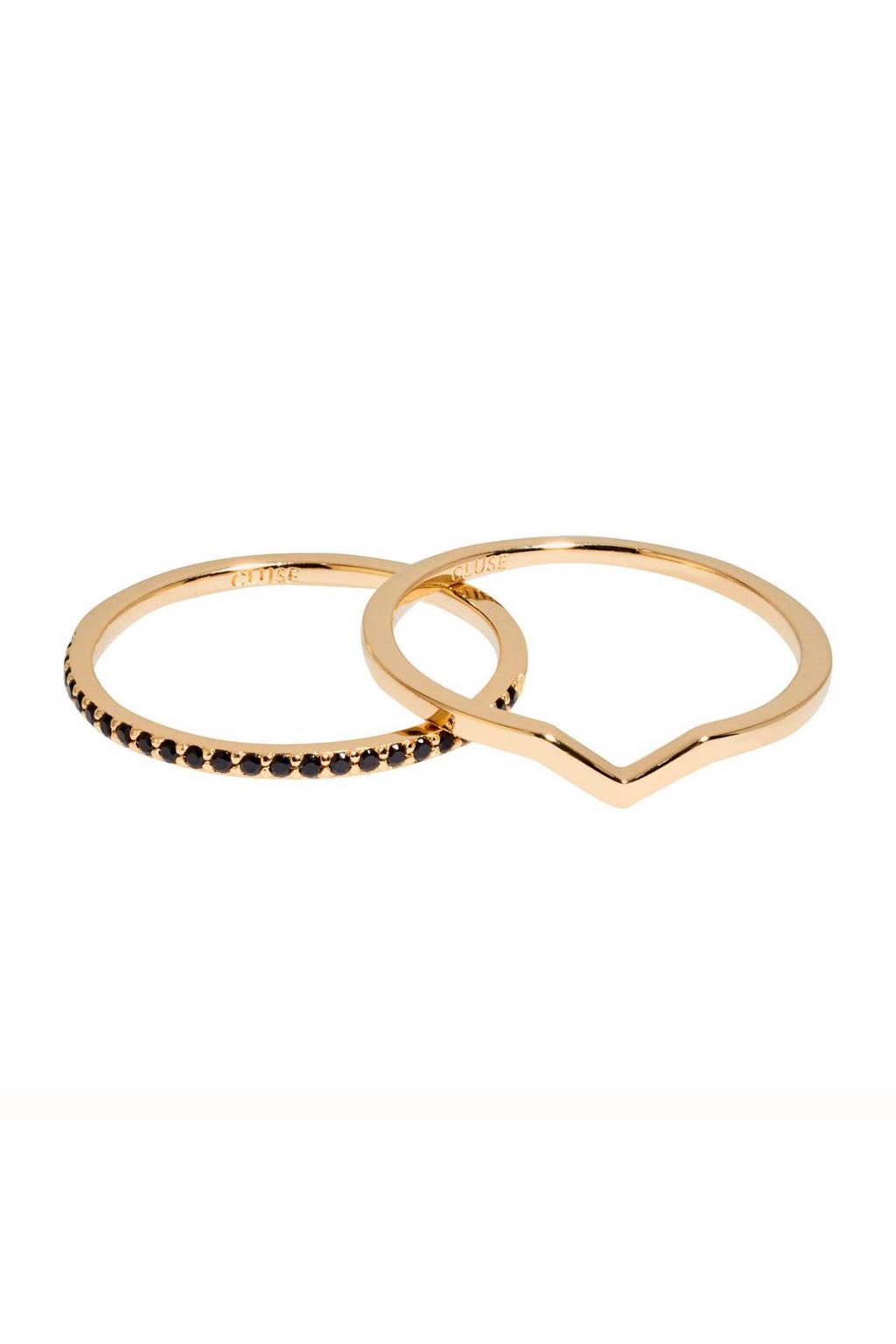 CLUSE ring - CLJ41004, Goudkleurig/zwart