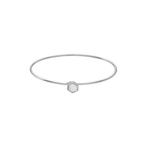 CLUSE-Armbanden-Idylle Marble Hexagon Bangle Bracelet-Zilver