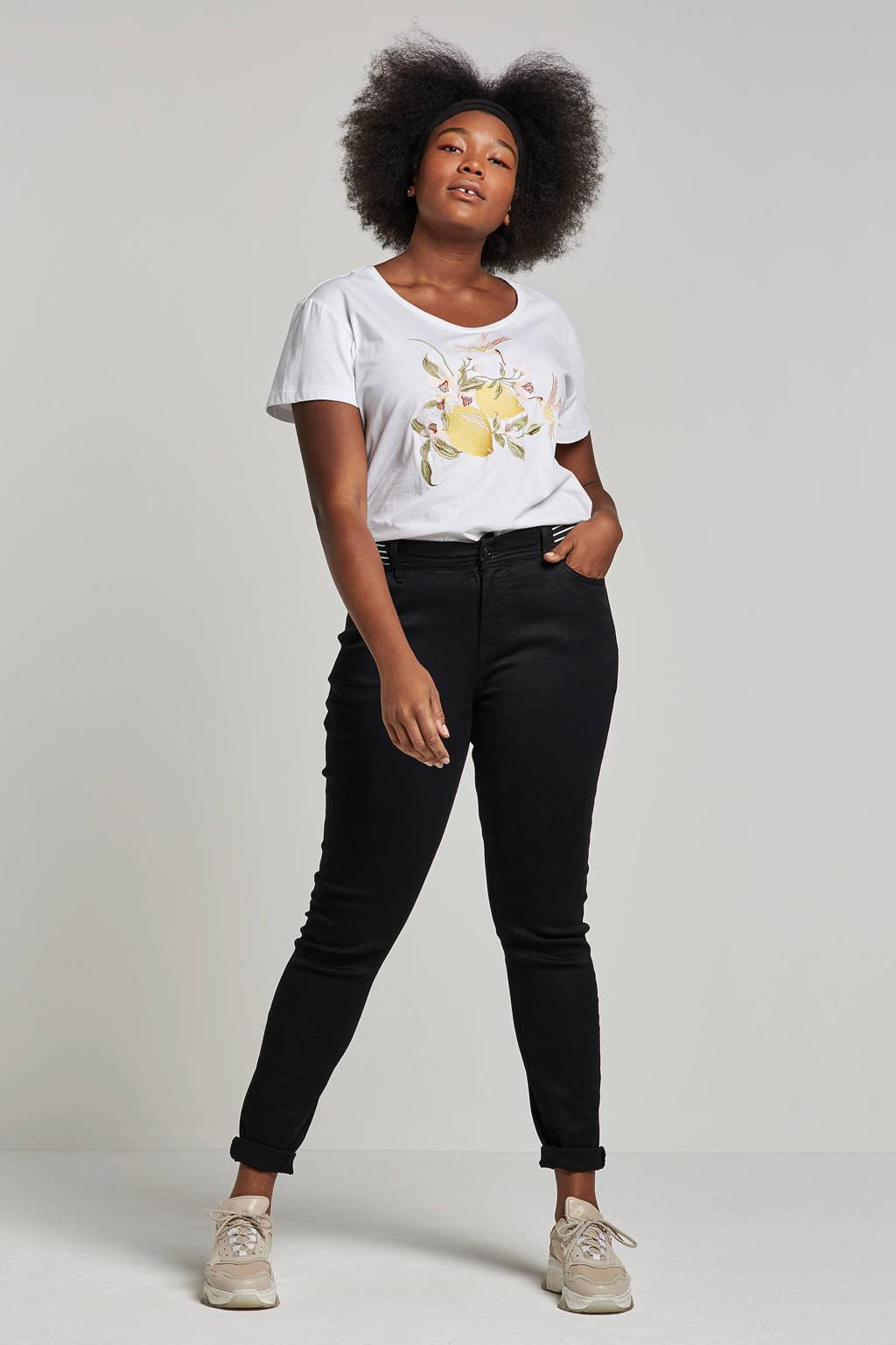 Zizzi high waist slim jeans, Zwart