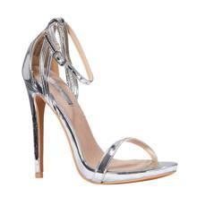 lak sandalettes zilver