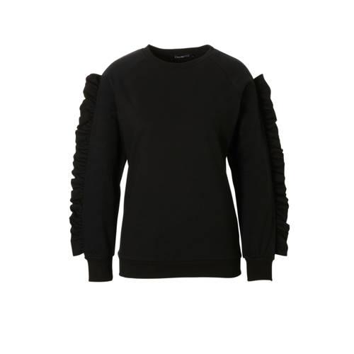 sweater met volantdetails