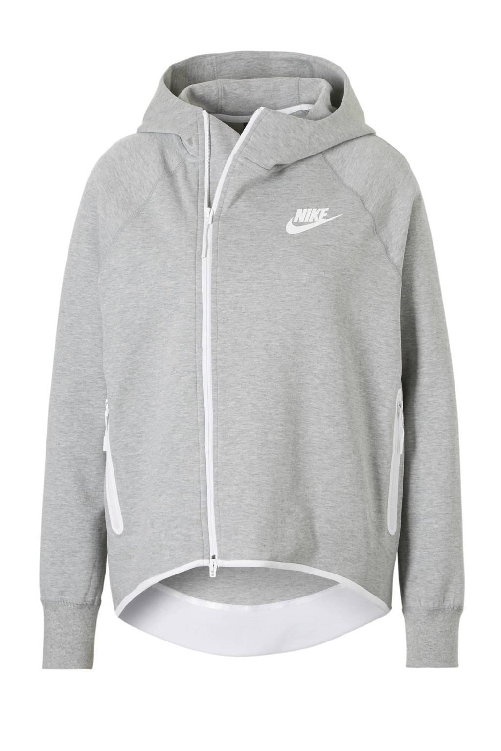 Nike Tech Fleece vest, Grijs melange/wit