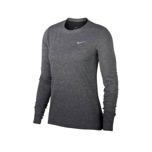 hardloop shirt grijs-blauw-melange