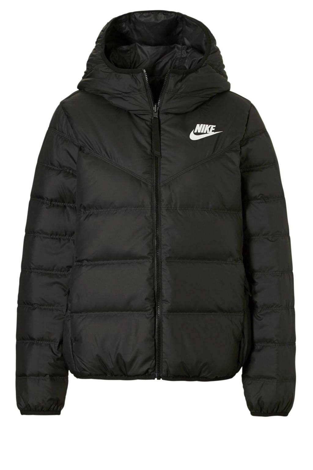 Nike jas reversible zwart, Zwart/wit