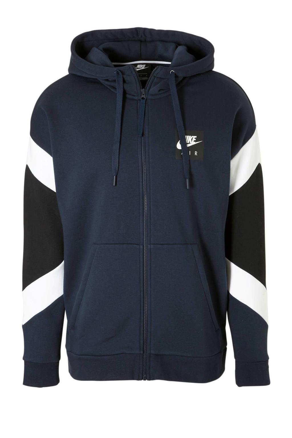 Nike   sweatvest donkerblauw, Donkerblauw