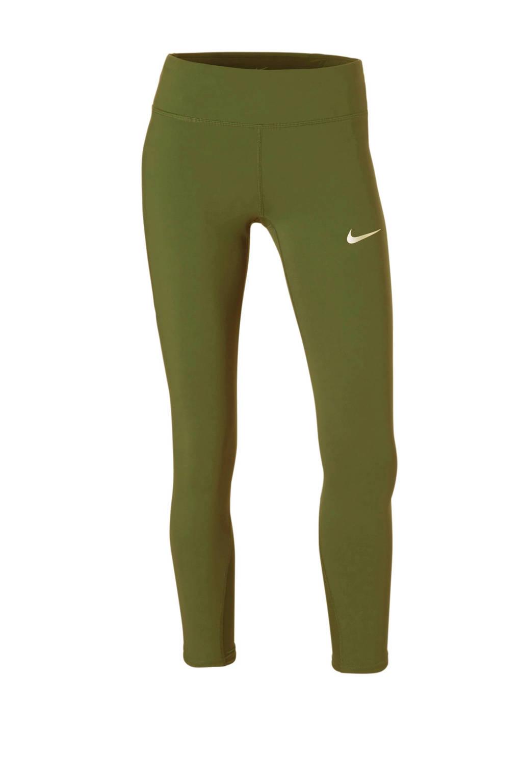 Nike 7/8 hardloopbroek donkerblauw, Olijfgroen