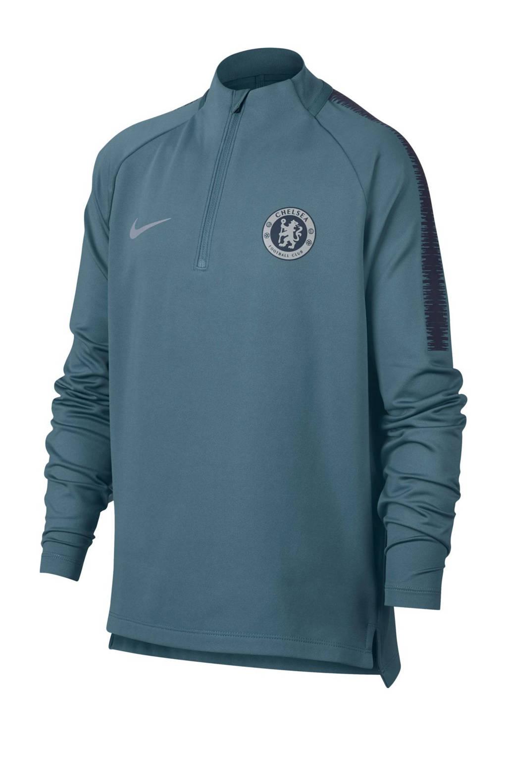 Nike Junior Chelsea  FC voetbalsweater grijsblauw, Grijsblauw