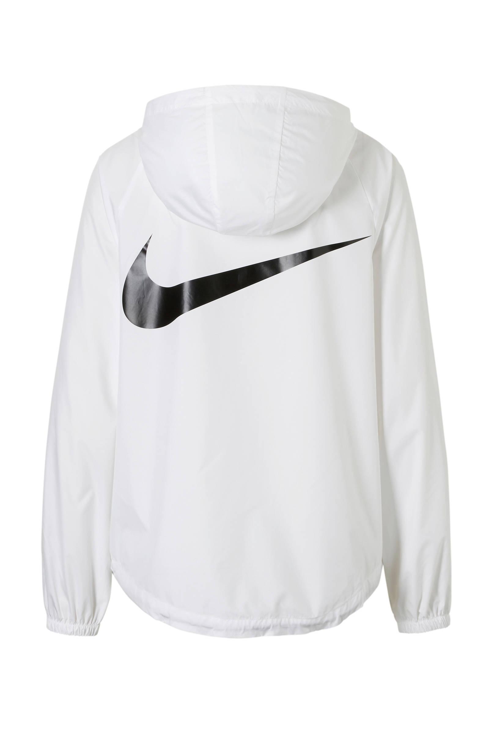 Nike Windrunner W winterjas zwart wit