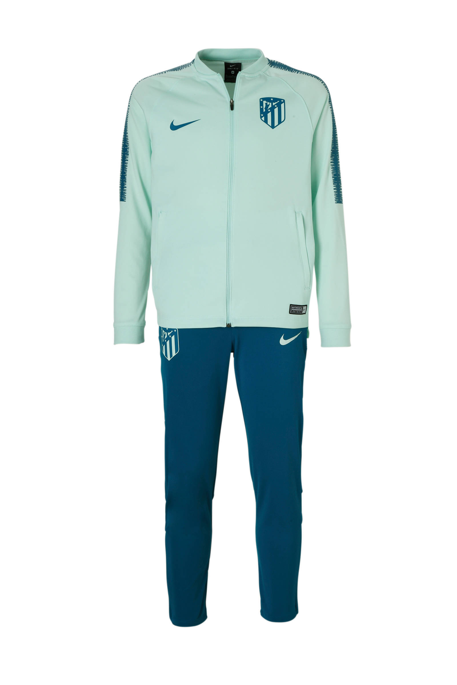 Nike trainingspak licht blauw/groen | wehkamp