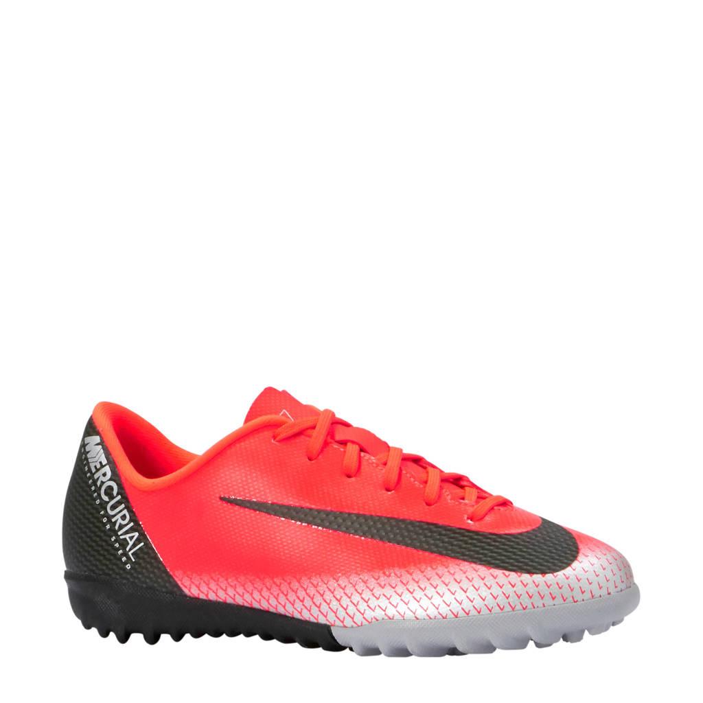 Nike kids JR Vapor 12 Academy GS CR7 TF voetbalschoenen, Rood/zwart