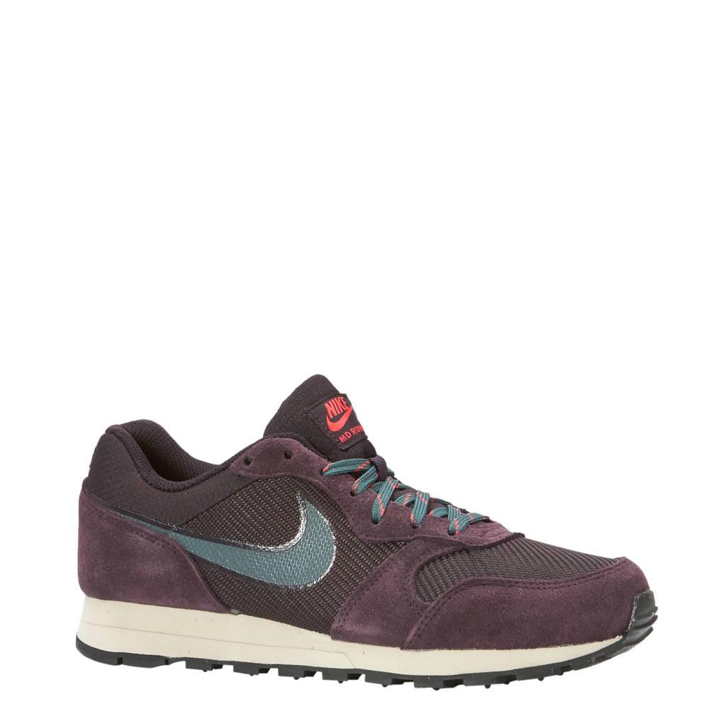 Nike  MD Runner 2 SE sneakers aubergine/groen, Aubergine/groen