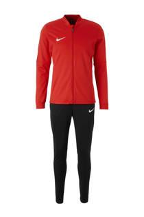 Nike   trainingspak rood/zwart (heren)