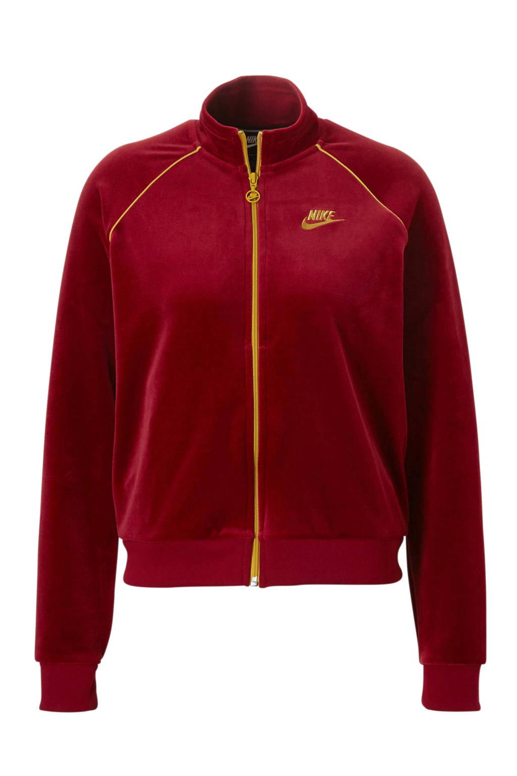 d85b20da629 Nike vest velours rood, Rood/geel