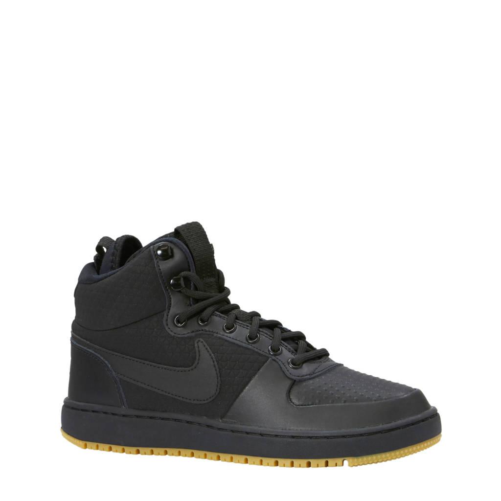 Nike  Ebernon Mid Winter sneakers zwart, Zwart