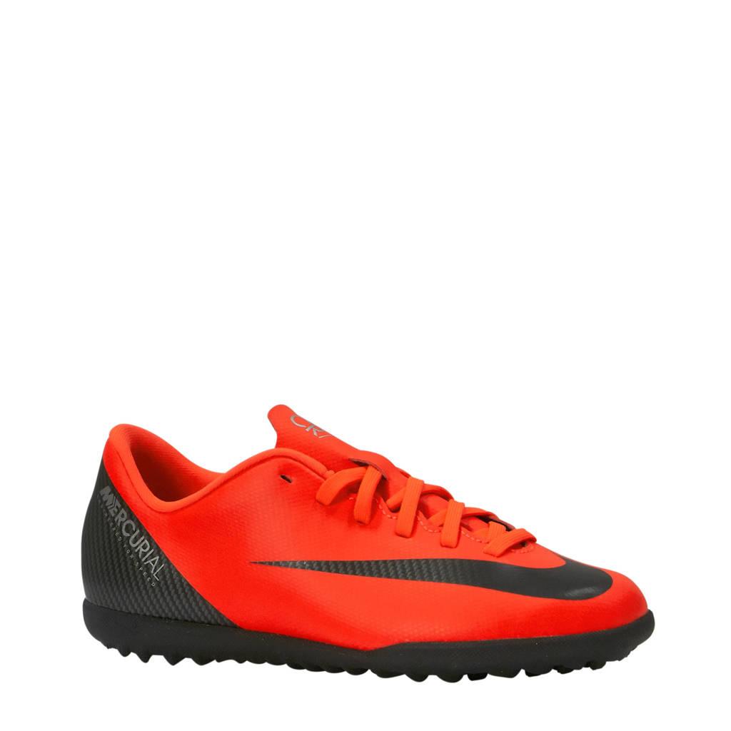 Nike JR Vapor 12 Club GS CR7 TF voetbalschoenen koraalrood, Rood/zwart