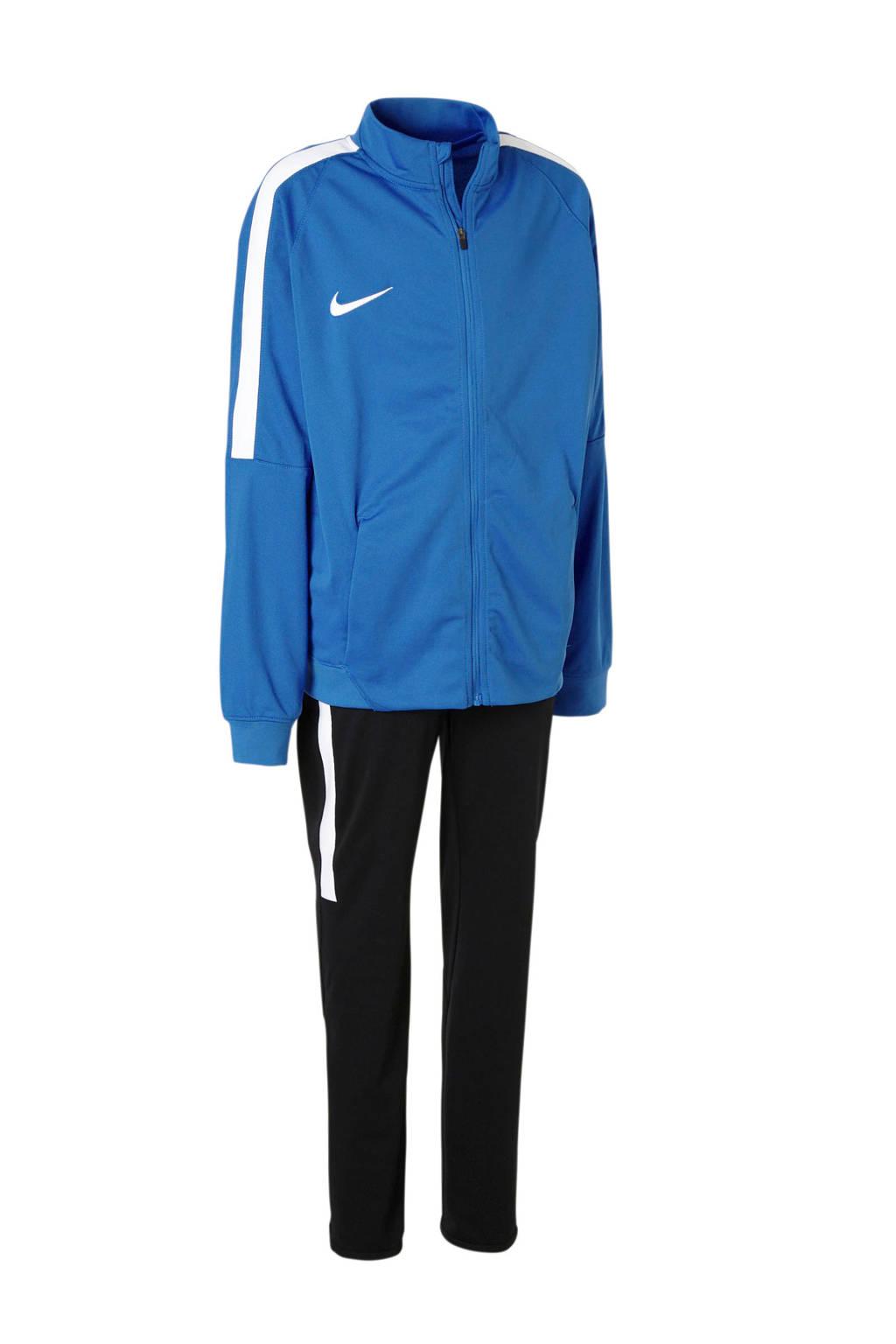 Nike   trainingspak blauw, Blauw/wit/zwart