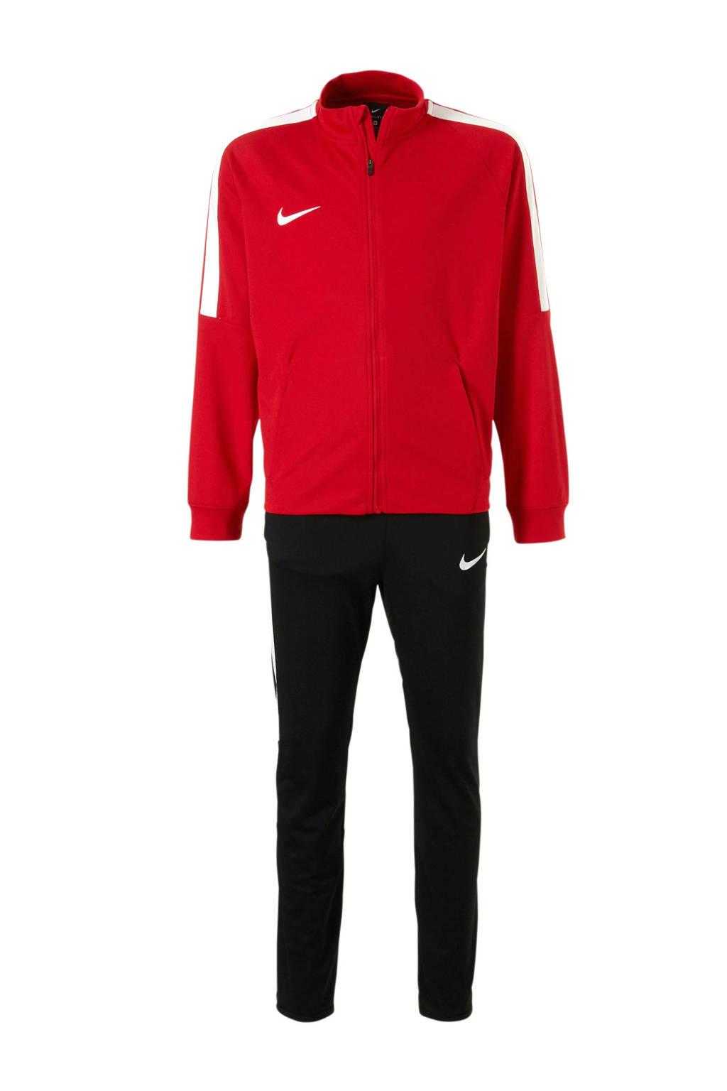Nike   trainingspak rood/zwart, Rood/zwart