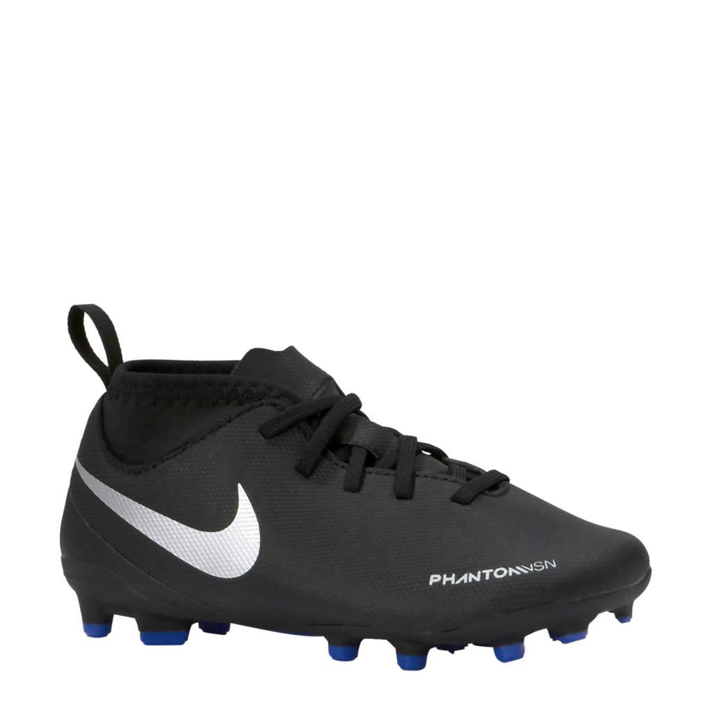 Nike Jr Phantom Vision Club DF FG/MG voetbalschoenen, Zwart/blauw