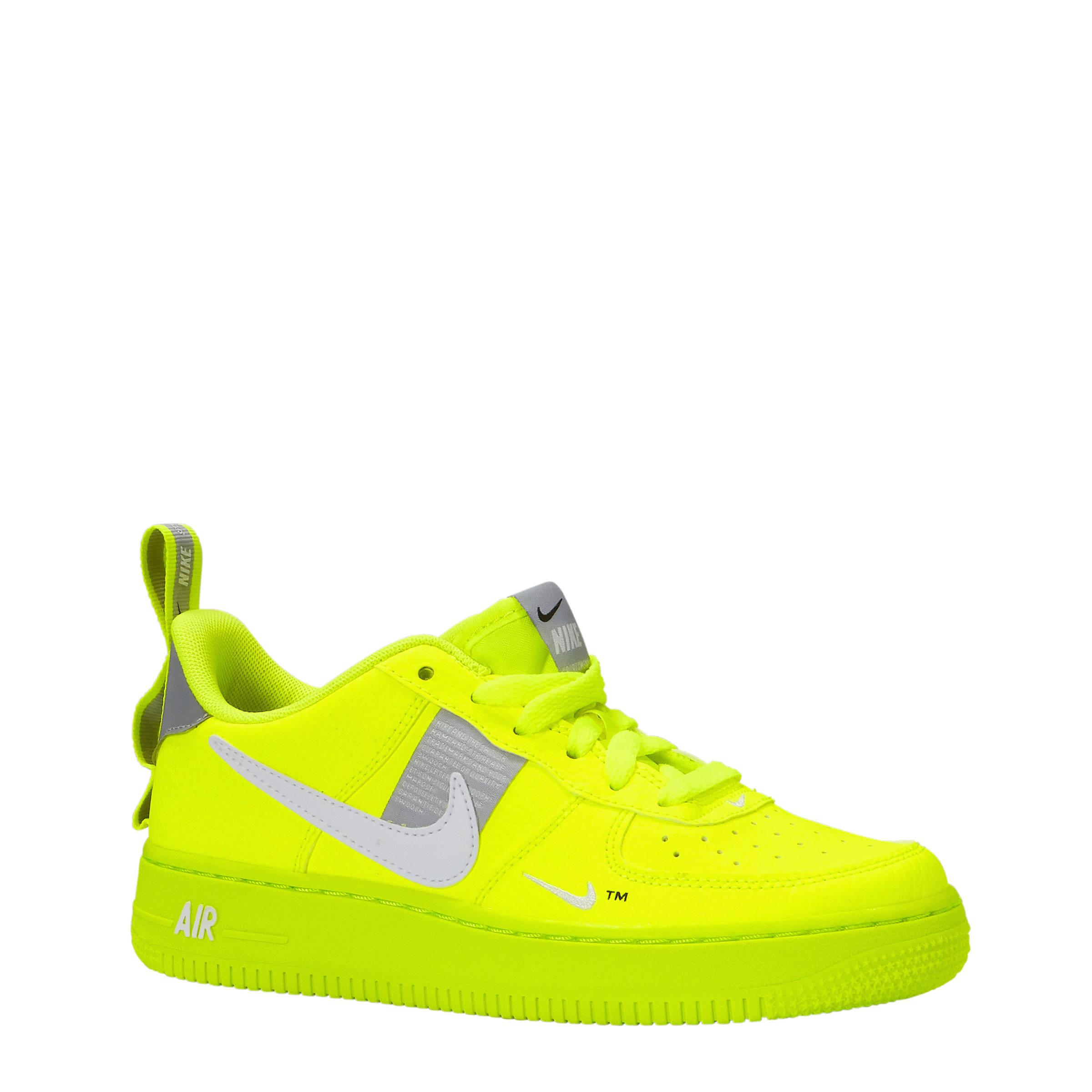 nike air force zwart groen geel