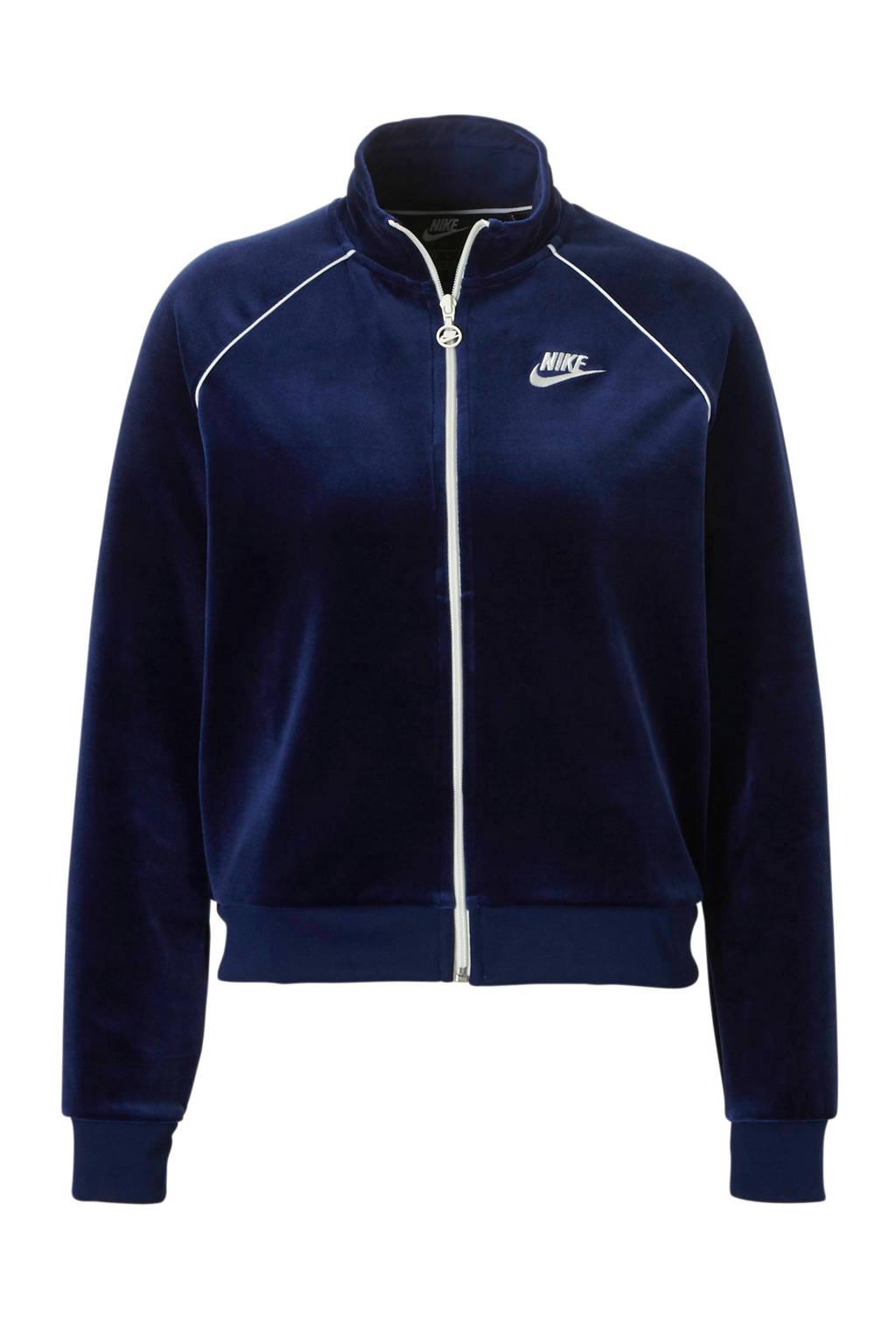 aedbc4f4b3d Nike vest velours blauw, Blauw/wit