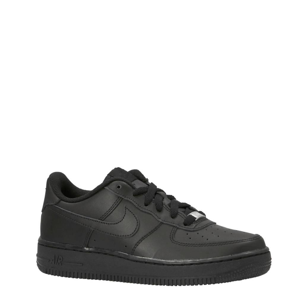 Nike   Air Force 1 leren sneakers zwart, Zwart