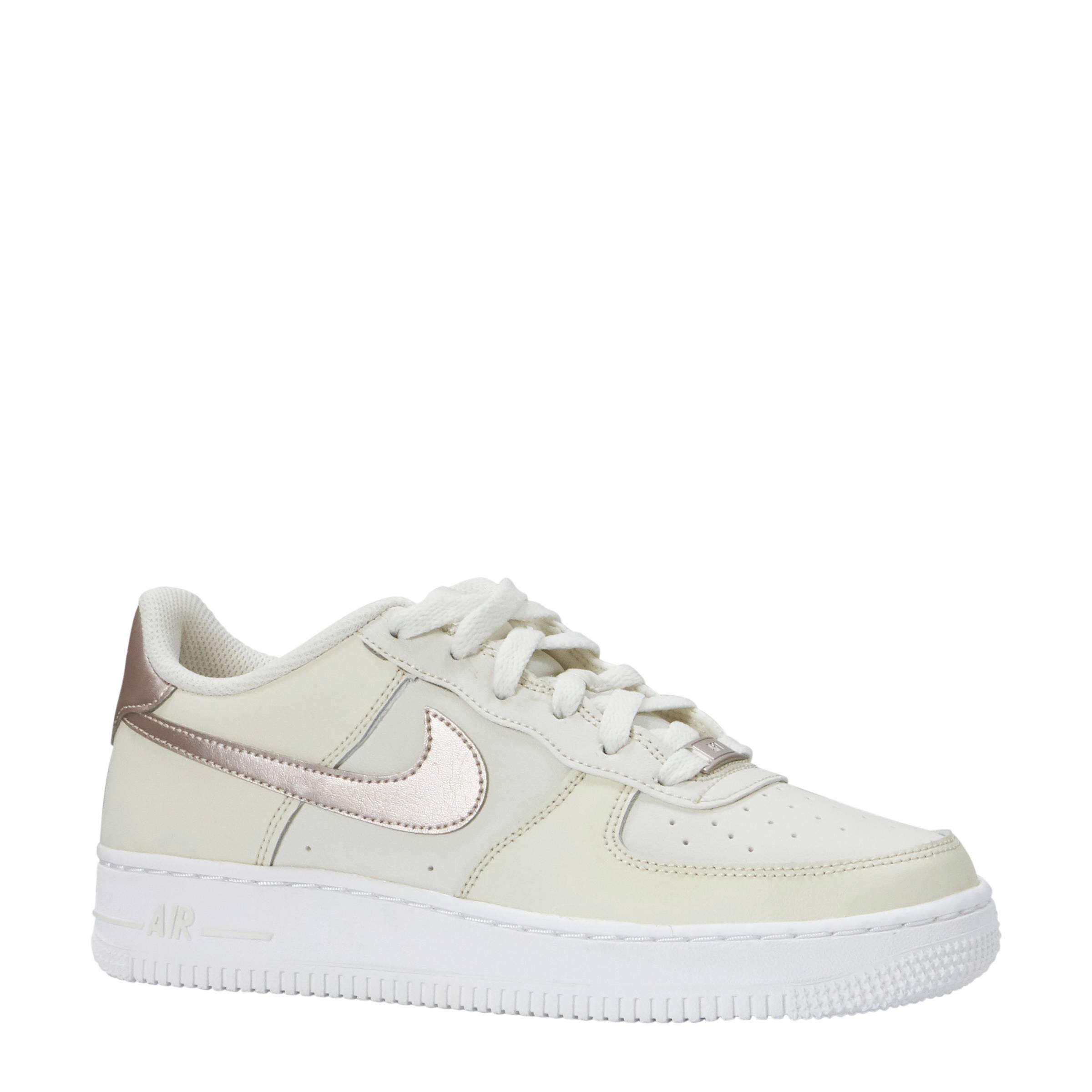 Nike Air Force 1 sneakers wit/zilver | wehkamp