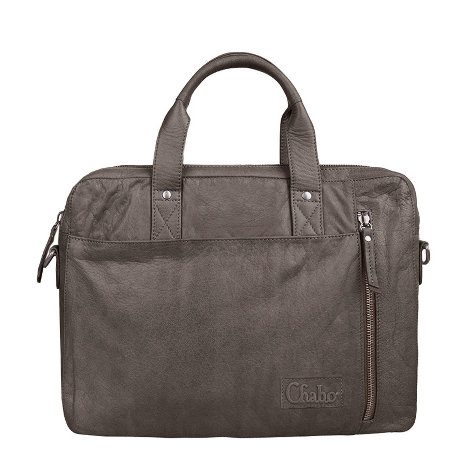 7410368e7ba Chabo Bags 14 inch leren laptoptas Detroit Office | wehkamp