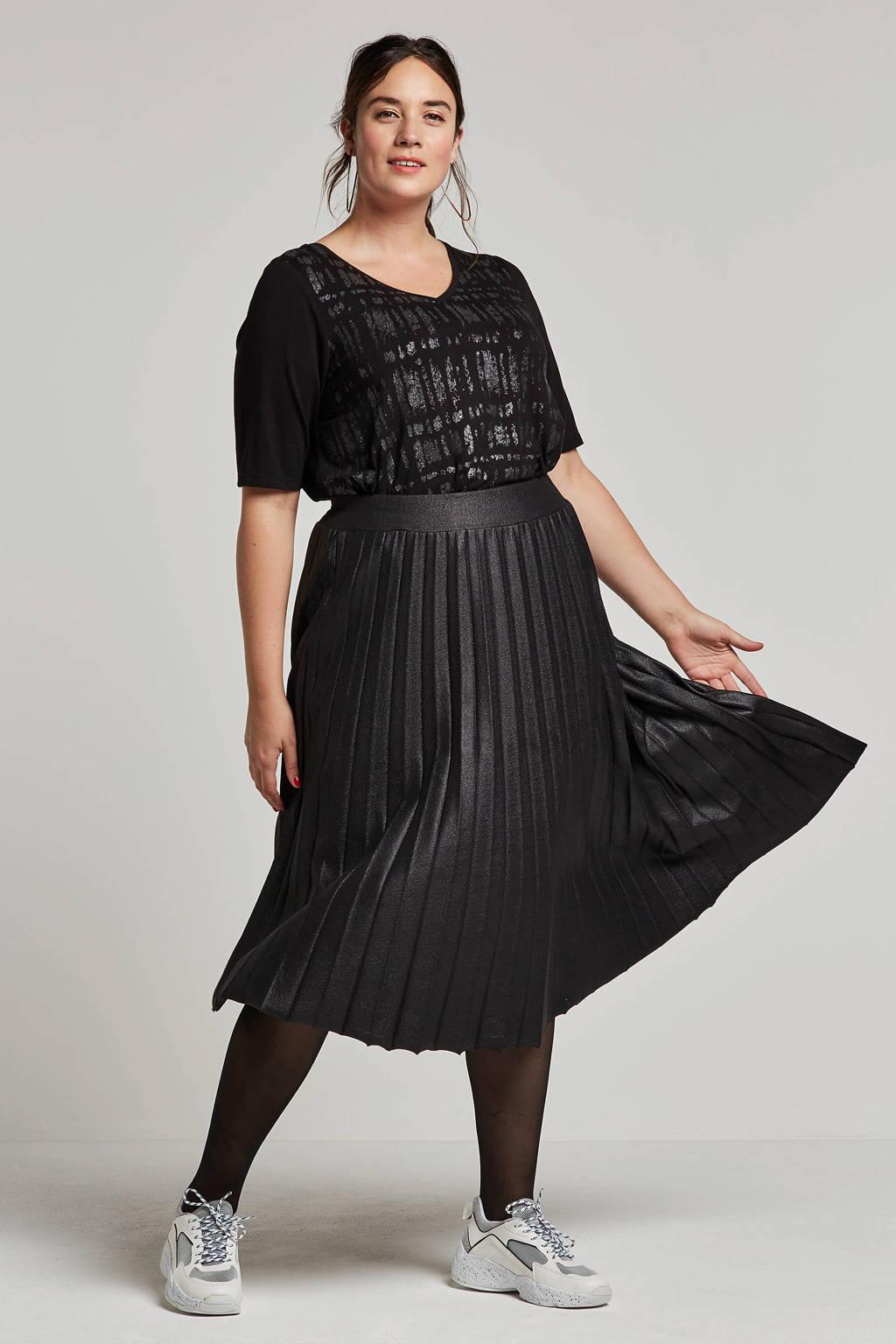 Zhenzi t-shirt met printopdruk, Zwart