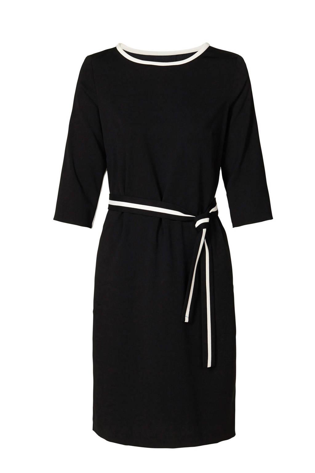 Mart Visser jurk met zijstreep zwart, Zwart
