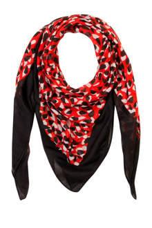 Accessoires sjaal met all over print rood