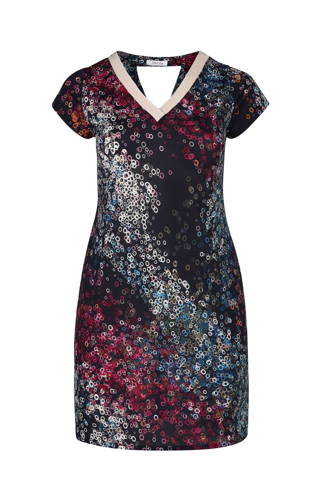 Paprika jurk paars, Paars/Zwart/Blauw
