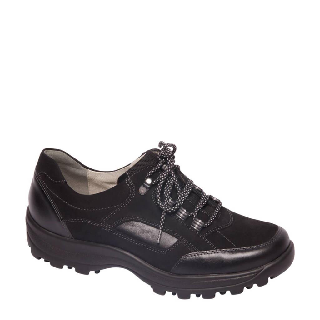 vanHaren Medicus  leren wandelschoenen zwart, Zwart