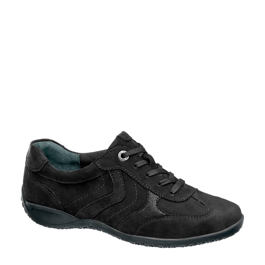 vanHaren Medicus  nubuck sneakers zwart, Zwart