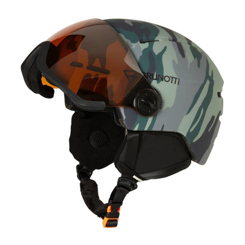 Brunotti skihelm Robotic AO 1 Unisex, Grijs/Print