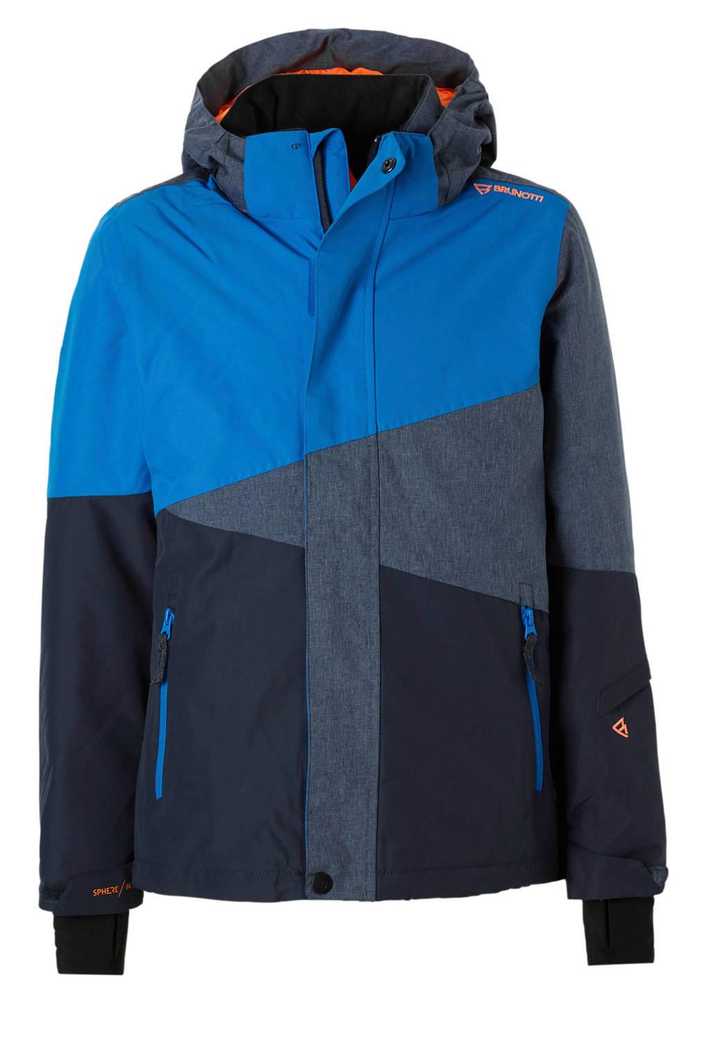 Brunotti ski-jack Idaho, Blauw/grijs