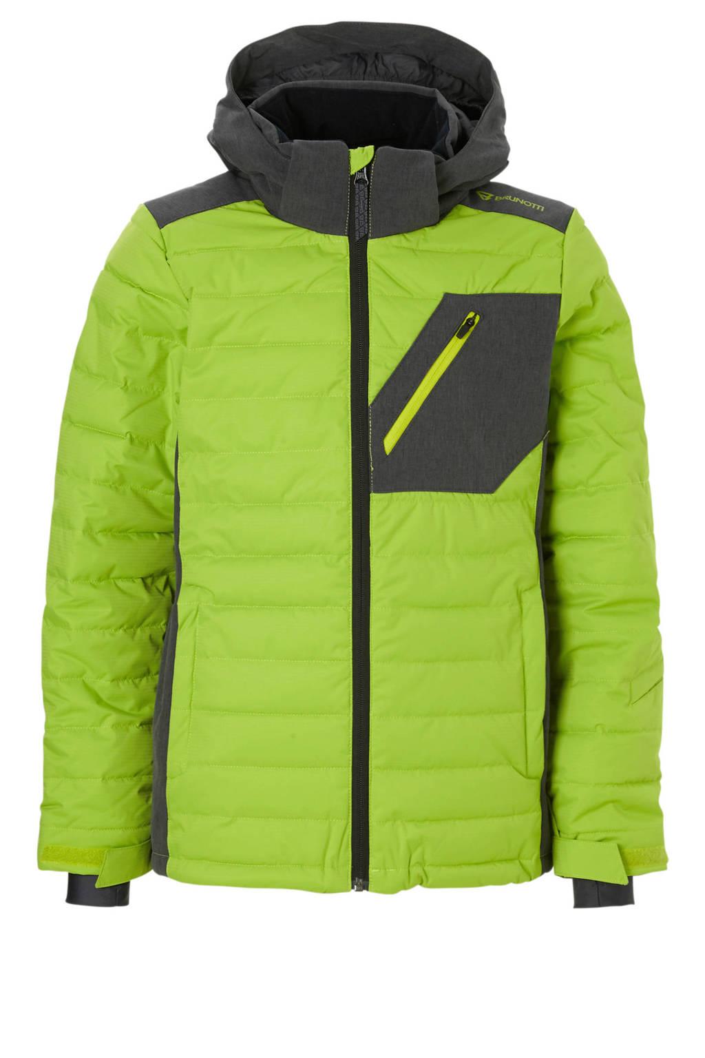 Brunotti ski-jack Trysail limegroen, Limegroen/grijs