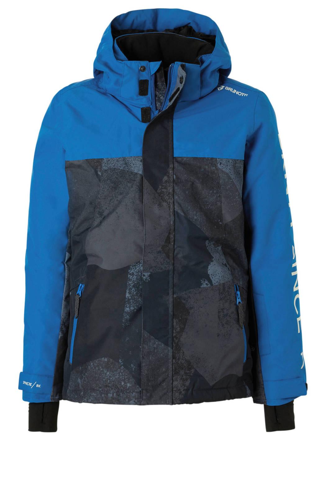 Brunotti ski-jack Gullies, Zwart/blauw
