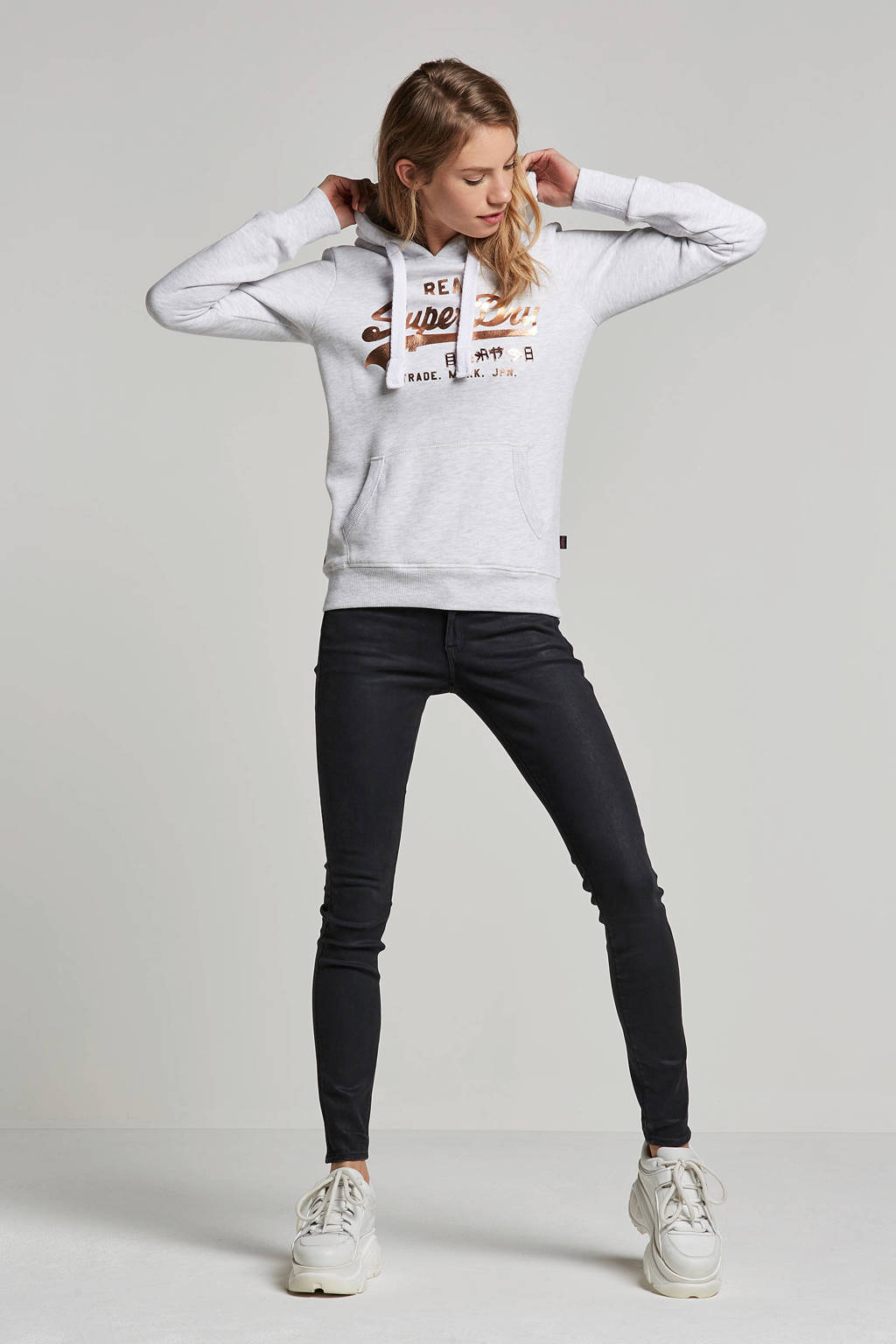 Superdry hooded sweater, Grijs