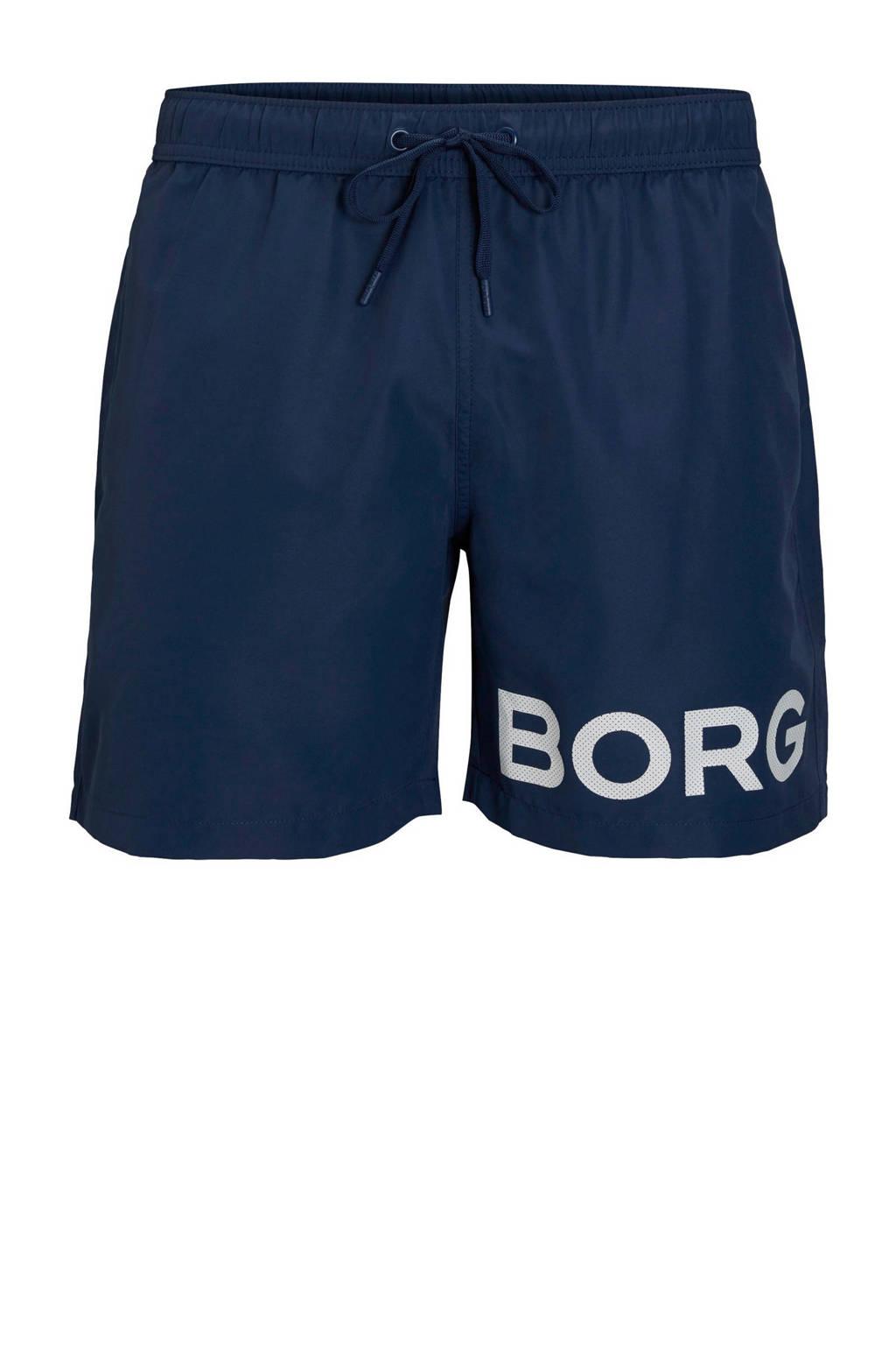 Björn Borg zwemshort met logo marine, Marine