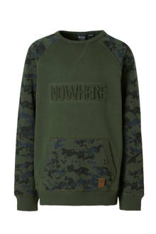 sweater met camouflage print